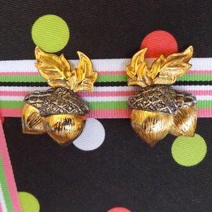 Vintage Avon Acorn Clip On Earrings